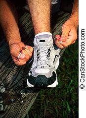 tieing, chaussure
