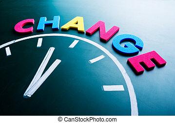 tiempo, a, cambio, concepto