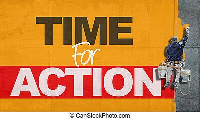 tiempo, acción