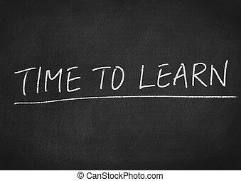 tiempo, aprender