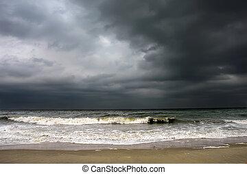tiempo, atlántico, océano tempestuoso
