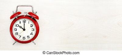 tiempo, bandera, retro, reloj