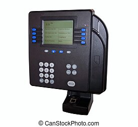 tiempo, biometric, identificación, reloj