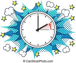 tiempo, cambio, estándar