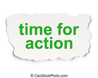tiempo, concept:, tiempo, para, acción, en, papel, plano de...
