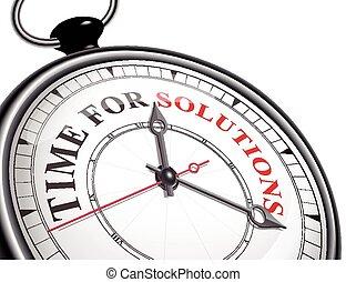 tiempo, concepto, soluciones, reloj