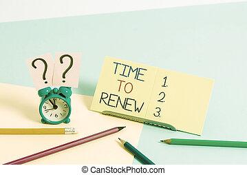 tiempo, conceptual, mini, reloj, pastel, foto, seguro, texto...