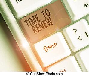 tiempo, conceptual, texto, mano, empresa / negocio, ...