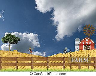 tiempo, cosecha, granja