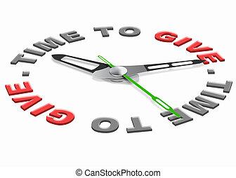 tiempo, dar