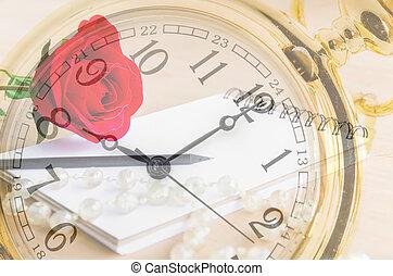 tiempo, de, amor, concept.
