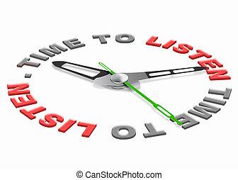 tiempo, escuchar