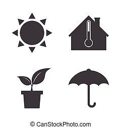 tiempo, icons.