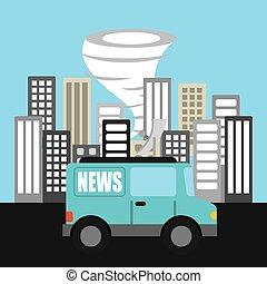 tiempo, informe, noticias, icono