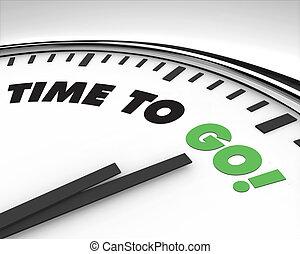 tiempo, ir, -, reloj
