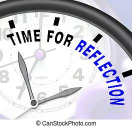 tiempo, o, mensaje, reflejar, reflexionar, reflexión, medios