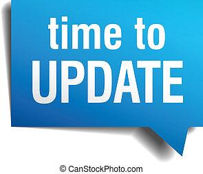 tiempo, papel, azul, realista, actualización, burbuja, ...