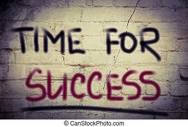 tiempo, para, éxito, concepto