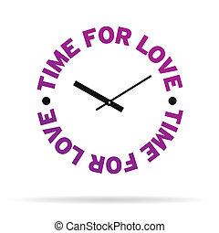 tiempo, para, amor, reloj