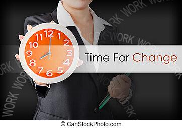 tiempo, para, change.