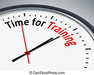 tiempo, para, entrenamiento