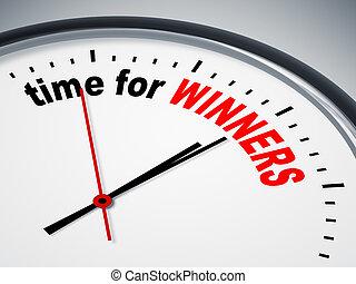 tiempo, para, ganadores