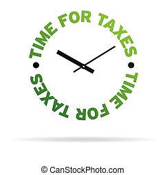 tiempo, para, impuestos
