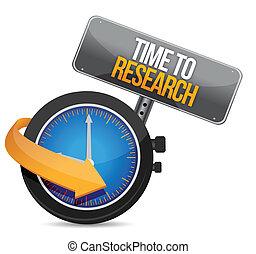 tiempo, para, investigación