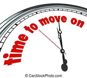 tiempo, para moverse, en, reloj, aceptación, conceder, a,...