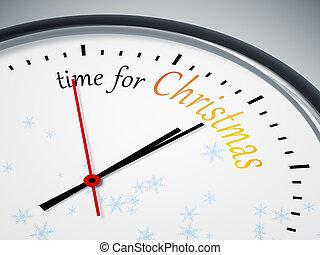 tiempo, para, navidad