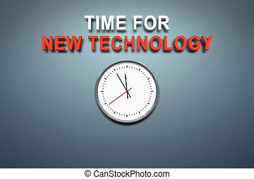tiempo, para, nueva tecnología, en, la pared