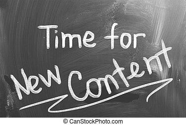 tiempo, para, nuevo, contenido, concepto