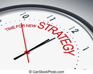 tiempo, para, nuevo, estrategia