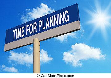 tiempo, para, planificación