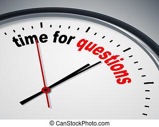 tiempo, para, preguntas