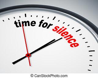 tiempo, para, silencio