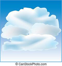 tiempo, principalmente, nublado, icono