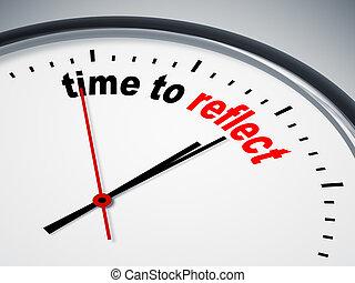 tiempo, reflejar