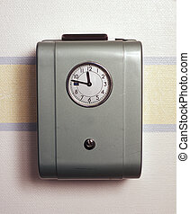 tiempo, retro, reloj