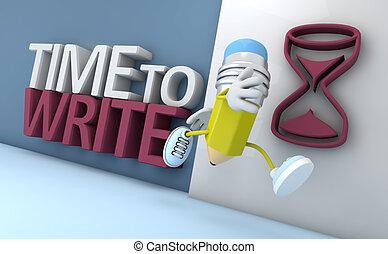 tiempo, write.