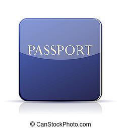 tien, app, eps, achtergrond., vector, paspoort, witte ,...