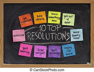 tien, bovenzijde, resolutions, jaarwisseling