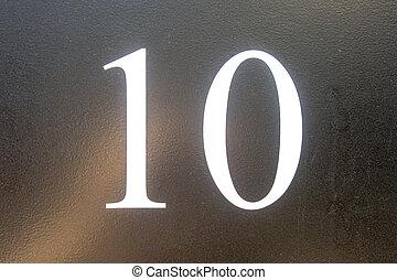 tien, getal
