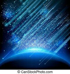 tien, het vallen, asteroids., eps