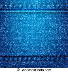 tien, jeans, eps, textuur, achtergrond