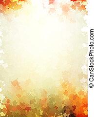 tien, kleurrijke, bladeren, pattern., eps, herfst, mal