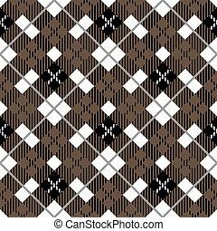 tien, palet, plaid stof, bruine , pattern., seamless, textuur, eps, traditionele , checkered, black , white., tartan
