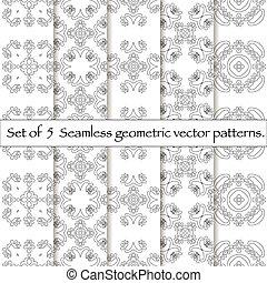 tien, set, pattern., seamless
