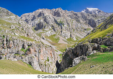 Tien-Shan canyon - Scenic canyon in mountain range Tien-Shan...
