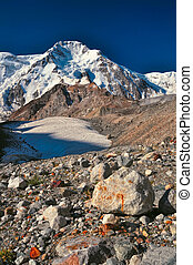 Tien-Shan in Kyrgyzstan - Scenic view of Tien-Shan mountain ...